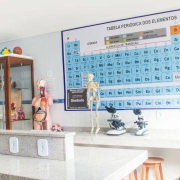 Laboratório de química e física