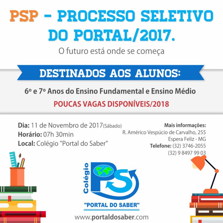 psp - processo seletivo do portal